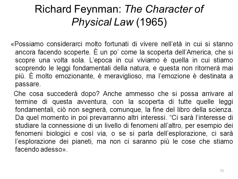 Richard Feynman: The Character of Physical Law (1965)