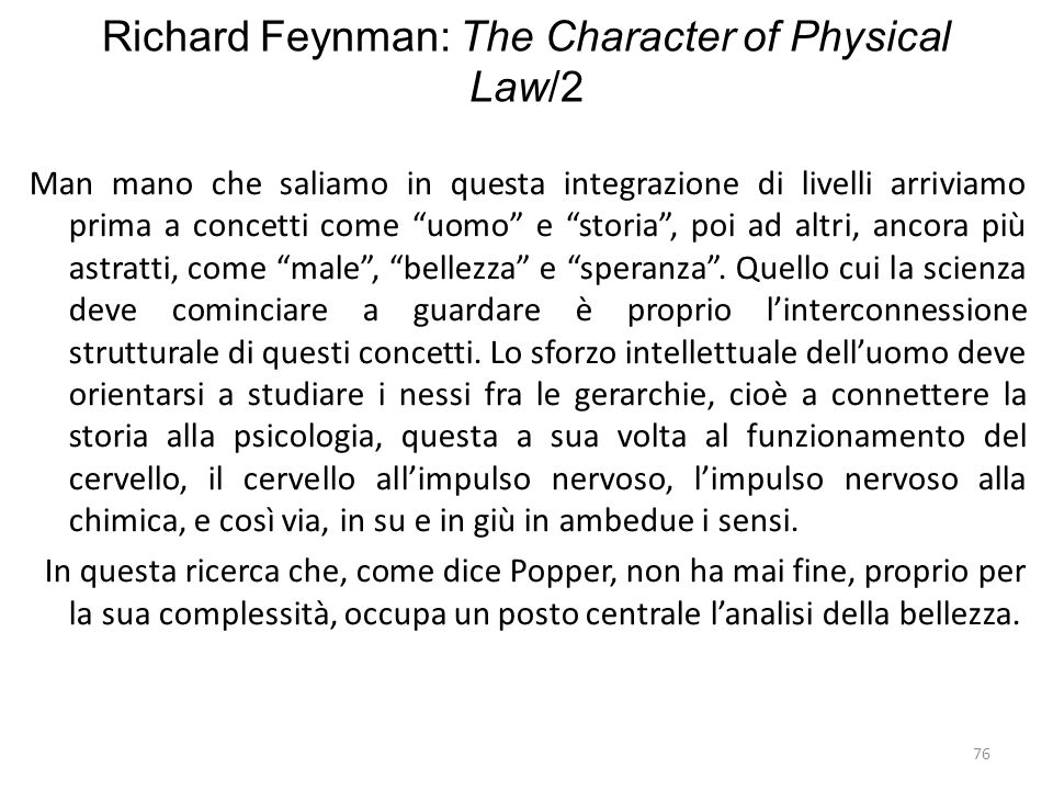 Richard Feynman: The Character of Physical Law/2