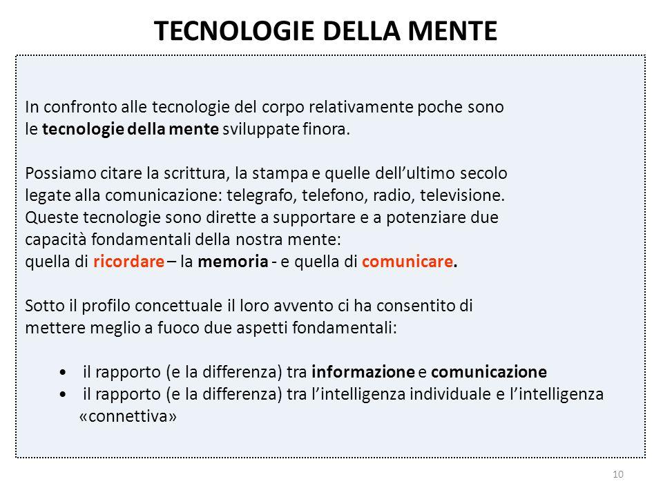TECNOLOGIE DELLA MENTE