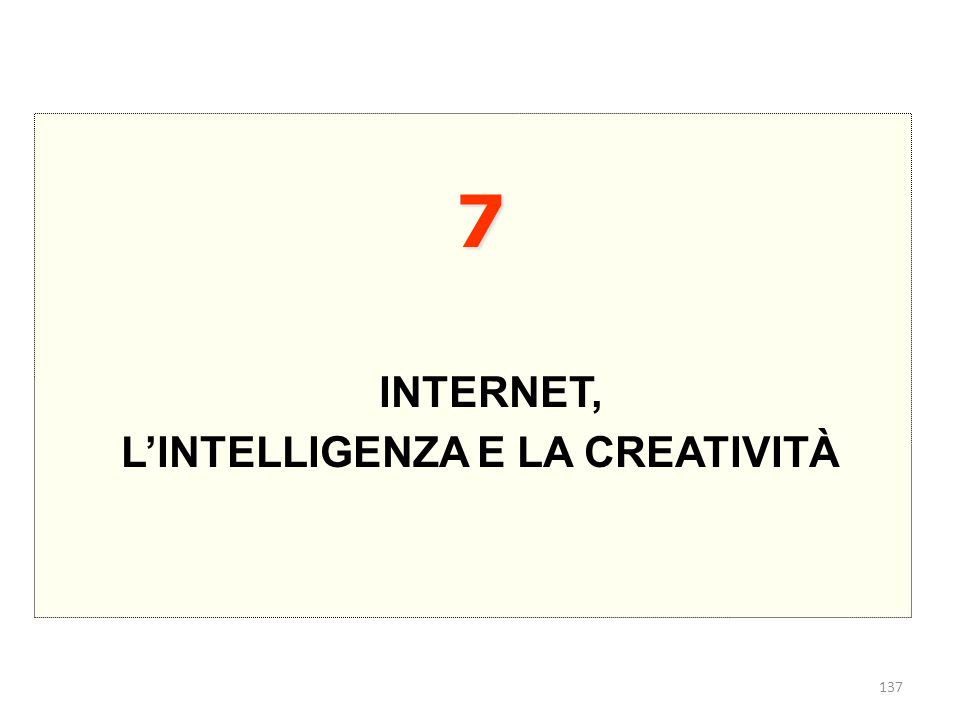 L'INTELLIGENZA E LA CREATIVITÀ