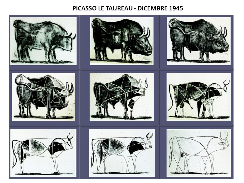 PICASSO LE TAUREAU - DICEMBRE 1945