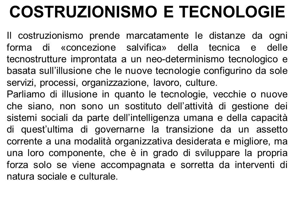 COSTRUZIONISMO E TECNOLOGIE