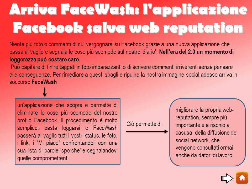 Arriva FaceWash: l applicazione Facebook salva web reputation