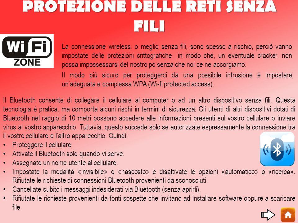 PROTEZIONE DELLE RETI SENZA FILI