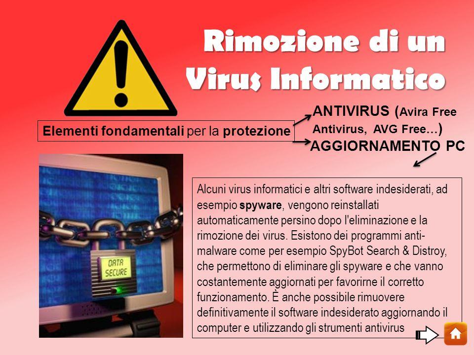 Rimozione di un Virus Informatico