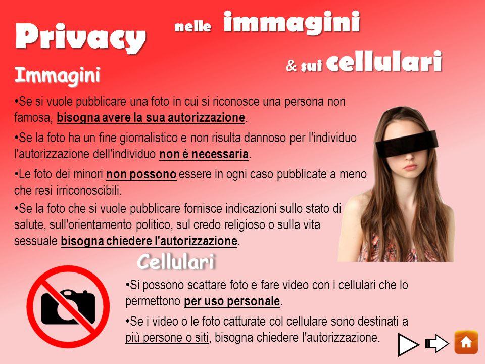 Privacy Immagini Cellulari nelle immagini & sui cellulari