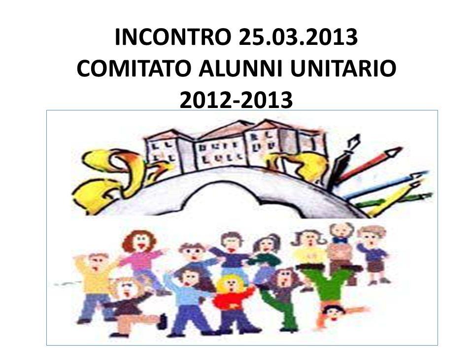 INCONTRO 25.03.2013 COMITATO ALUNNI UNITARIO 2012-2013