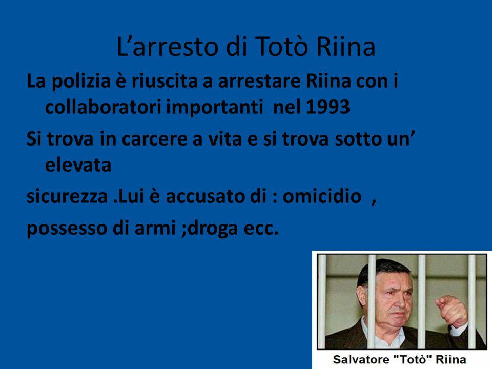 L'arresto di Totò Riina