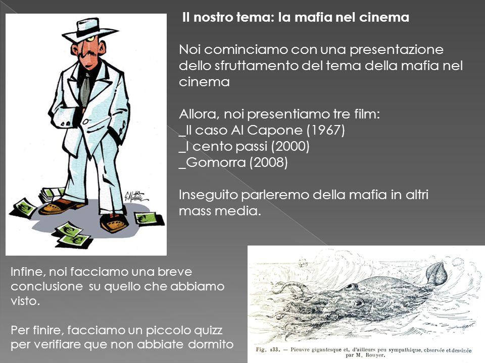 Il nostro tema: la mafia nel cinema