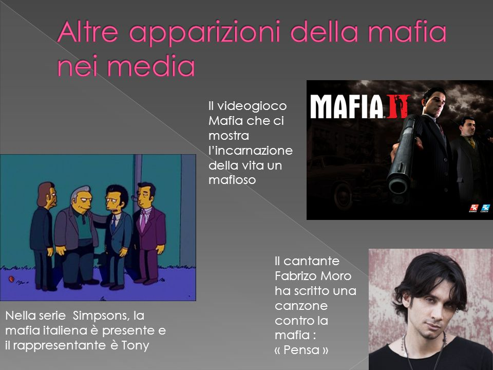Altre apparizioni della mafia nei media