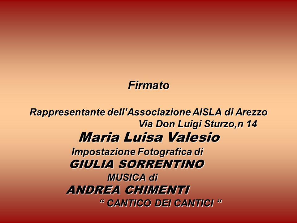 Rappresentante dell'Associazione AISLA di Arezzo