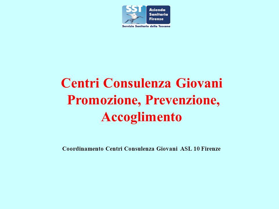Centri Consulenza Giovani Promozione, Prevenzione, Accoglimento