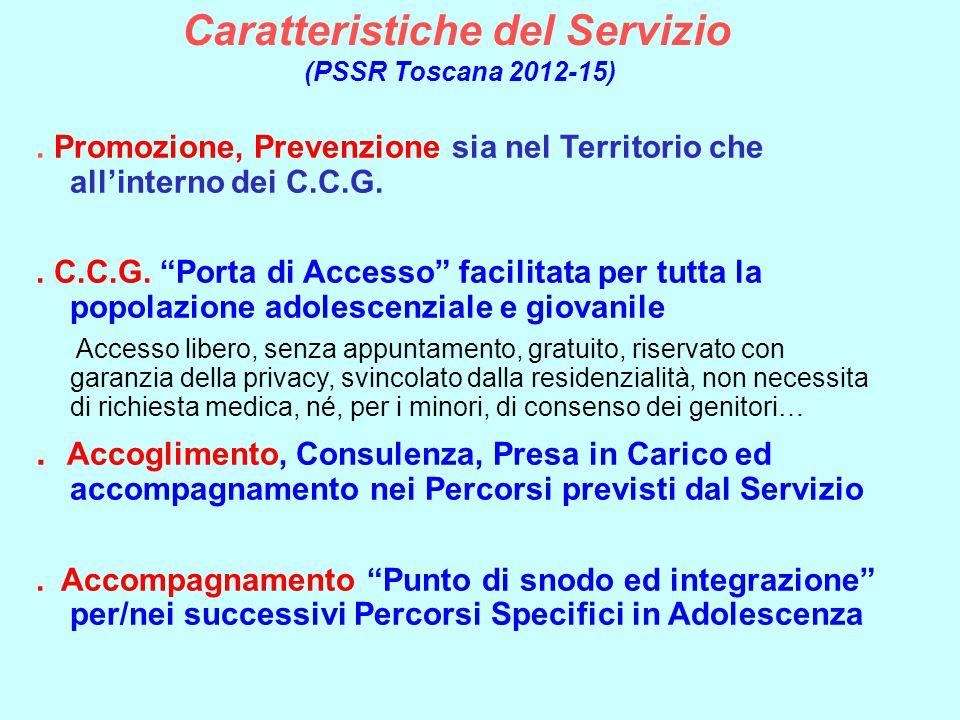 Caratteristiche del Servizio (PSSR Toscana 2012-15)