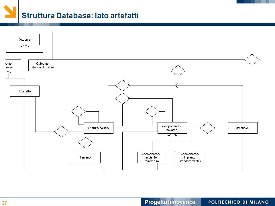 Struttura Database: lato artefatti