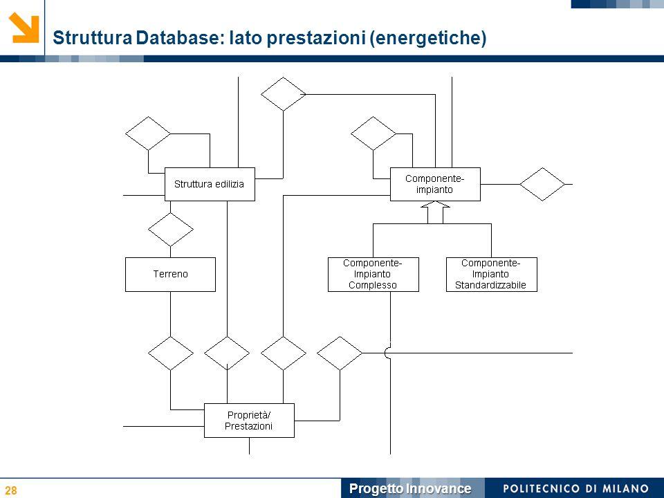 Struttura Database: lato prestazioni (energetiche)