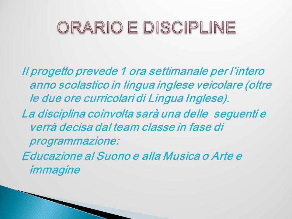ORARIO E DISCIPLINE