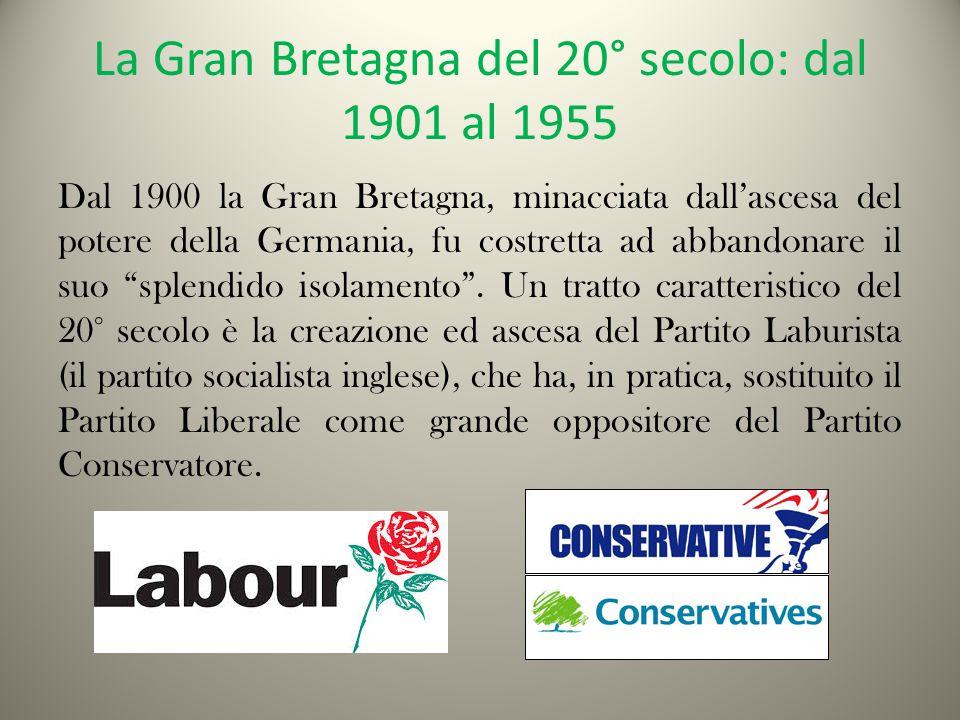 La Gran Bretagna del 20° secolo: dal 1901 al 1955