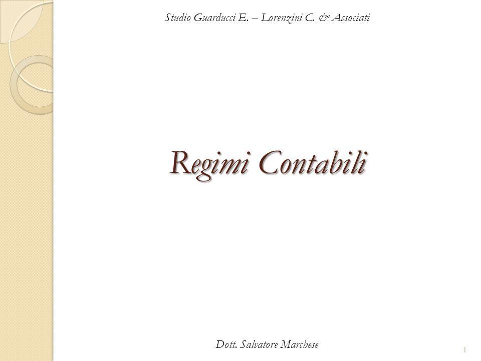 Regimi Contabili Studio Guarducci E. – Lorenzini C. & Associati