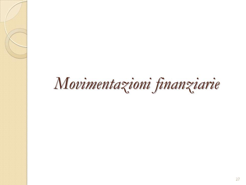 Movimentazioni finanziarie