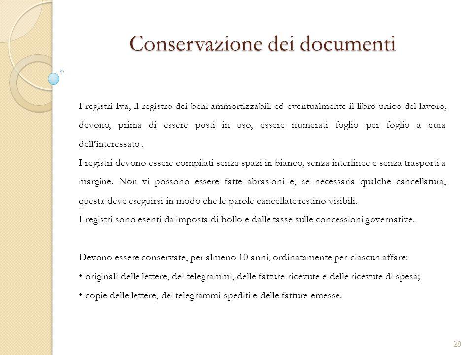 Conservazione dei documenti