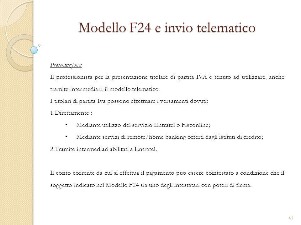 Modello F24 e invio telematico