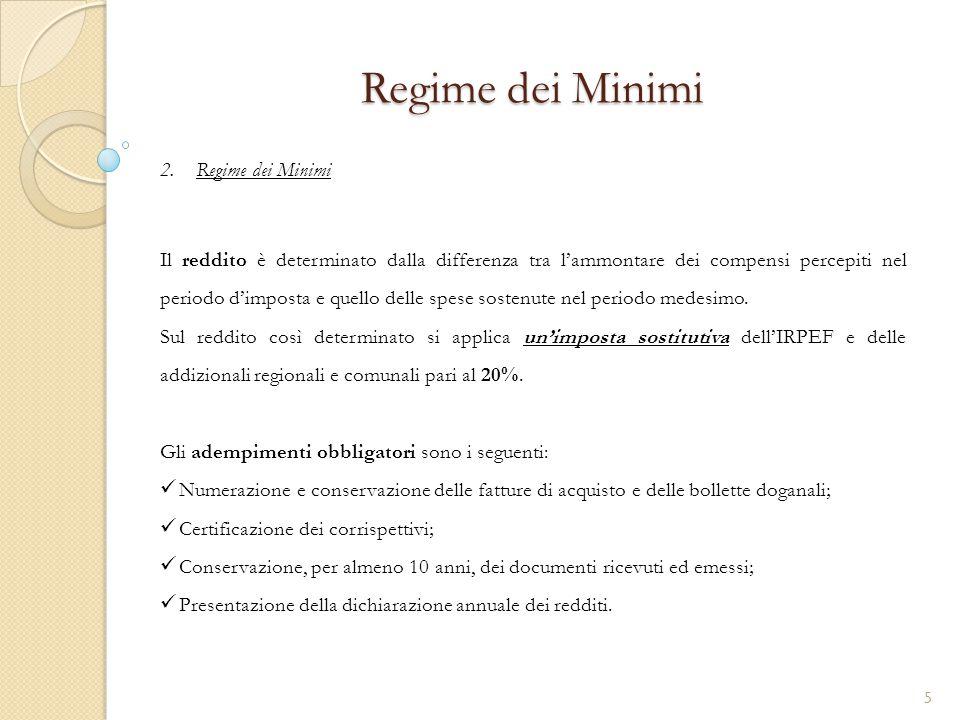 Regime dei Minimi Regime dei Minimi
