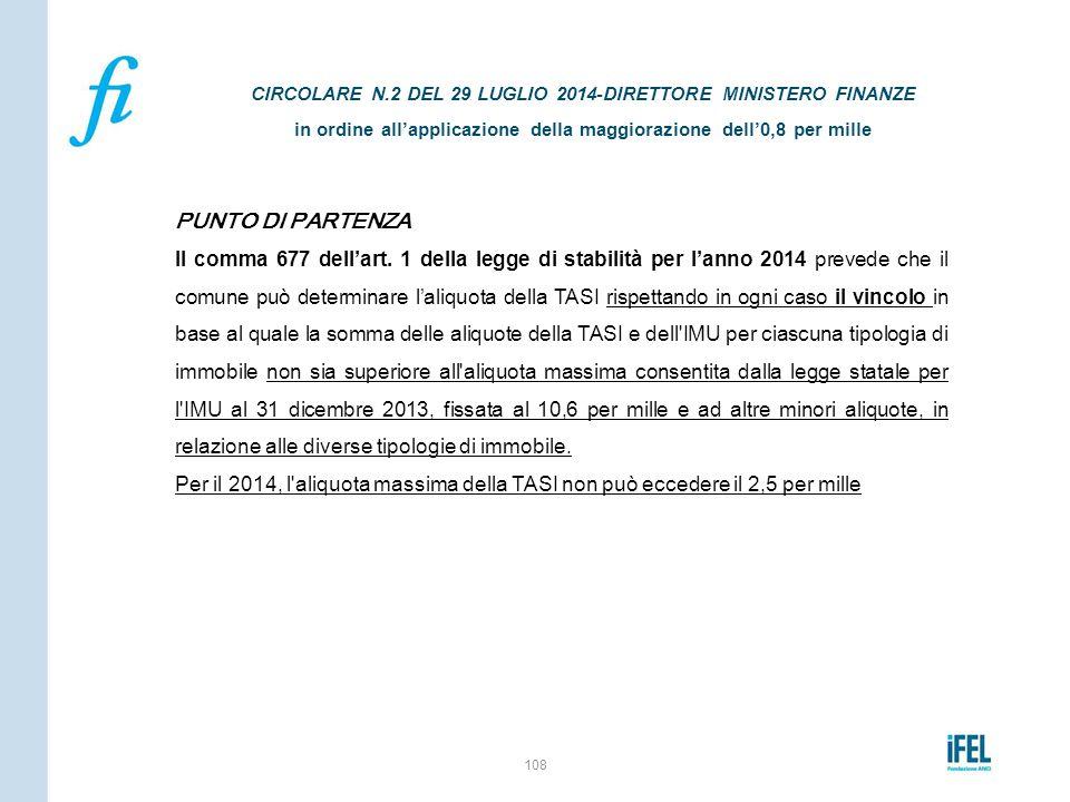 CIRCOLARE N.2 DEL 29 LUGLIO 2014-DIRETTORE MINISTERO FINANZE in ordine all'applicazione della maggiorazione dell'0,8 per mille