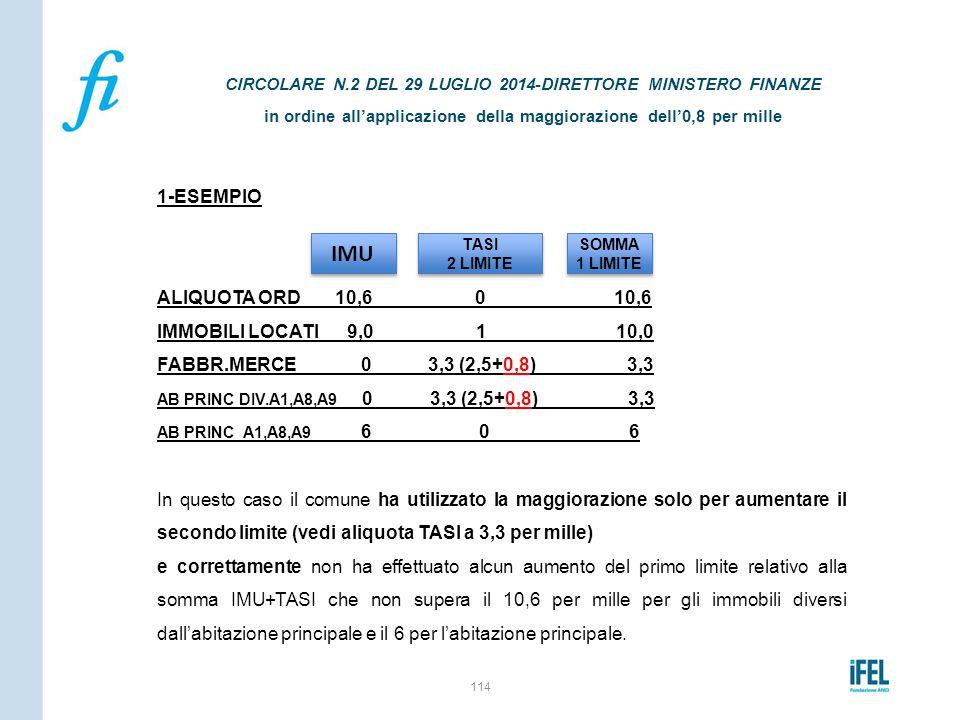 IMU 1-ESEMPIO ALIQUOTA ORD 10,6 0 10,6 IMMOBILI LOCATI 9,0 1 10,0