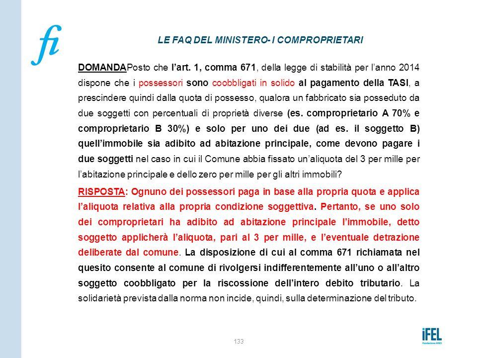 LE FAQ DEL MINISTERO- I COMPROPRIETARI