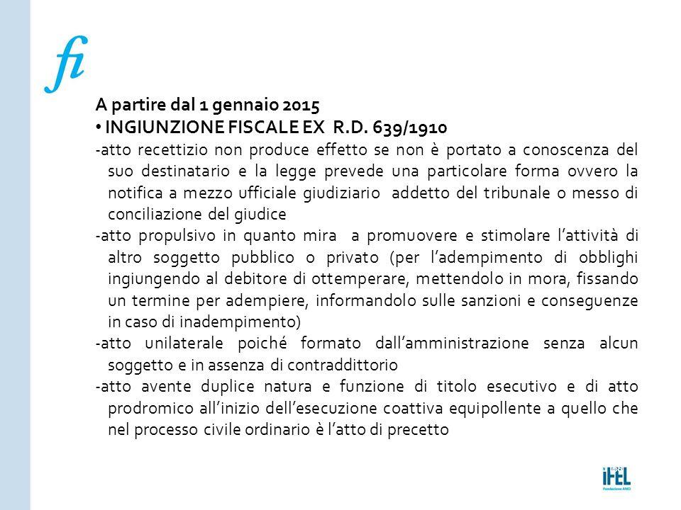 INGIUNZIONE FISCALE EX R.D. 639/1910