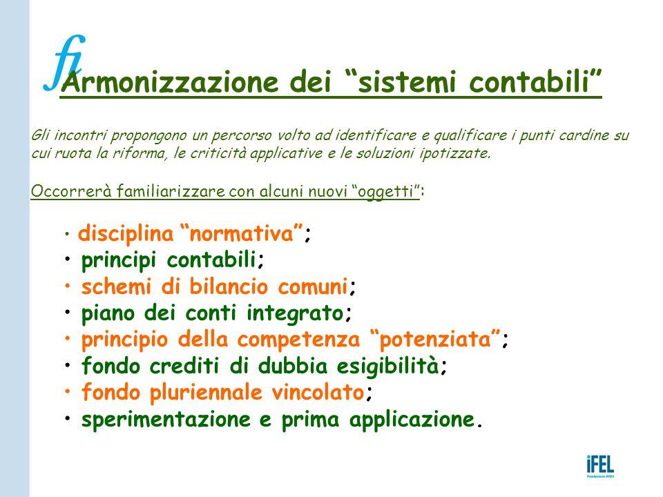 Armonizzazione dei sistemi contabili