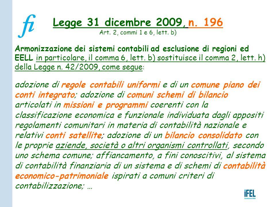 Legge 31 dicembre 2009, n. 196 Art. 2, commi 1 e 6, lett. b)