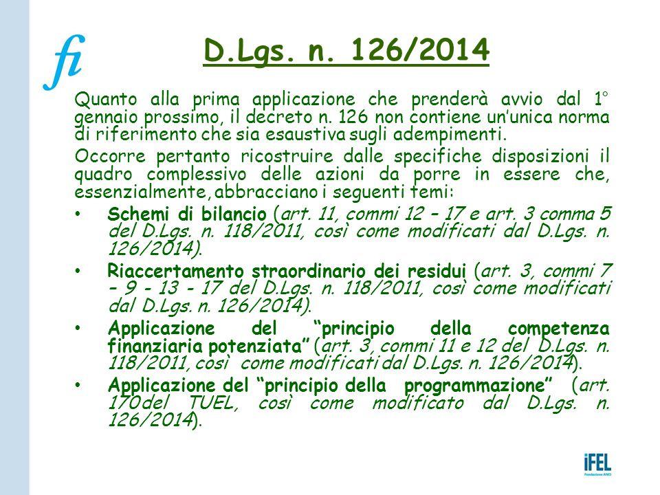 D.Lgs. n. 126/2014