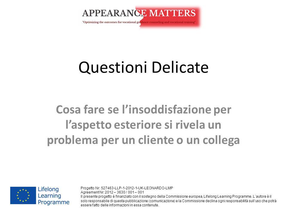 Questioni Delicate Cosa fare se l'insoddisfazione per l'aspetto esteriore si rivela un problema per un cliente o un collega.