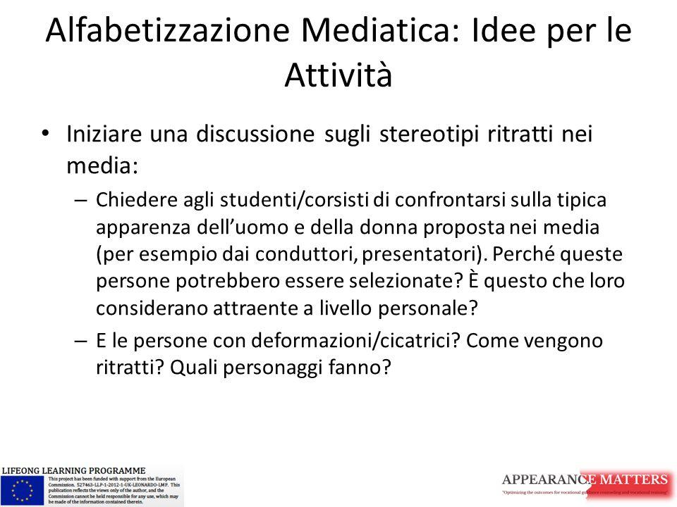 Alfabetizzazione Mediatica: Idee per le Attività
