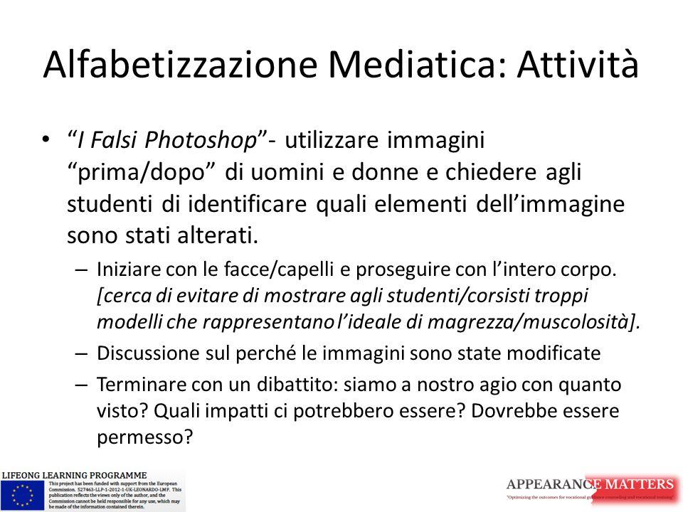 Alfabetizzazione Mediatica: Attività