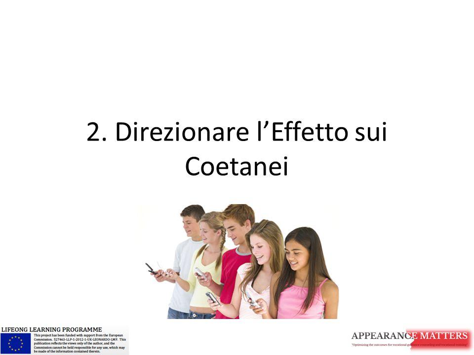 2. Direzionare l'Effetto sui Coetanei