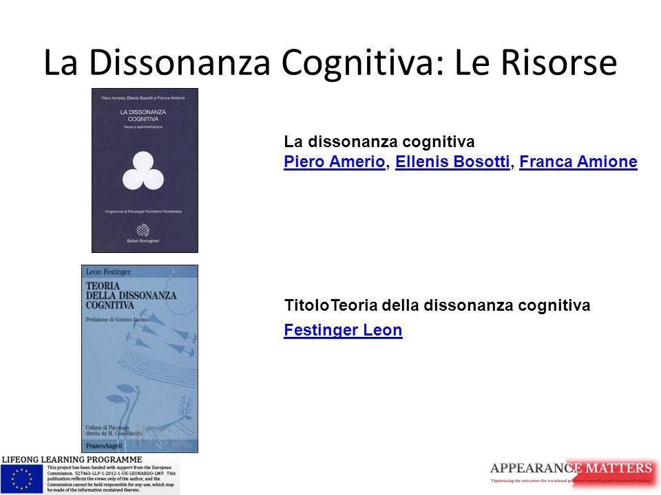 La Dissonanza Cognitiva: Le Risorse