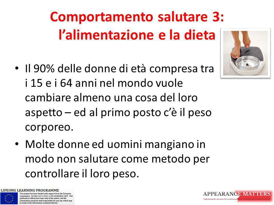Comportamento salutare 3: l'alimentazione e la dieta