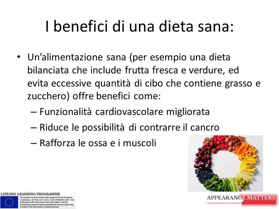 I benefici di una dieta sana: