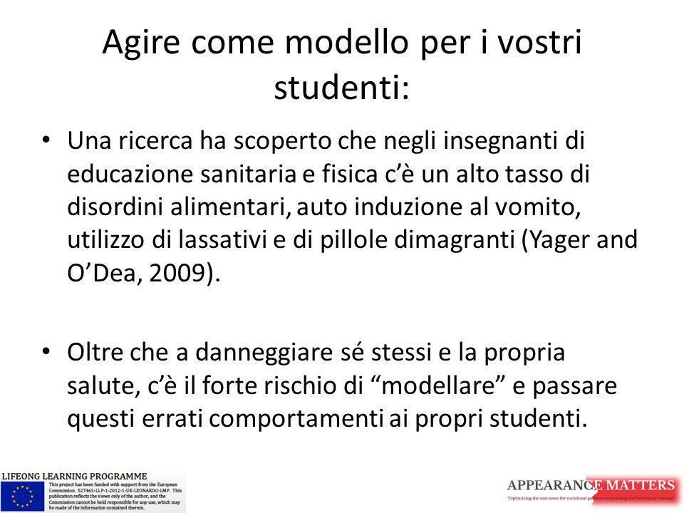 Agire come modello per i vostri studenti: