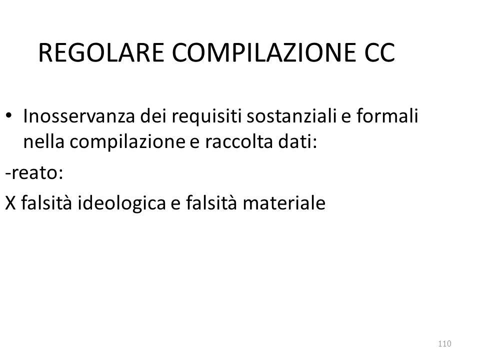 REGOLARE COMPILAZIONE CC