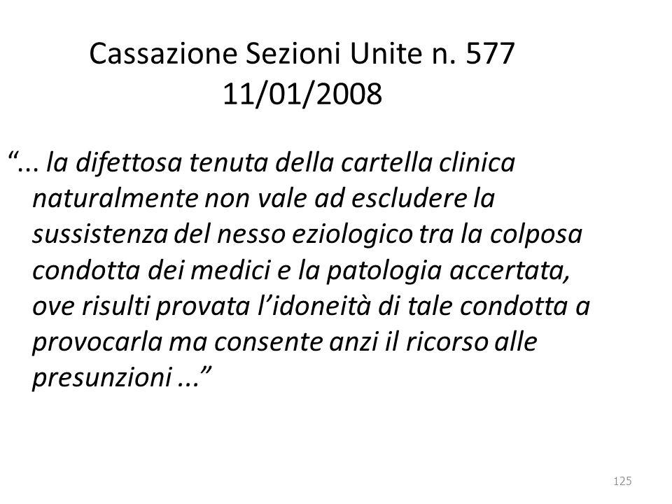 Cassazione Sezioni Unite n. 577 11/01/2008