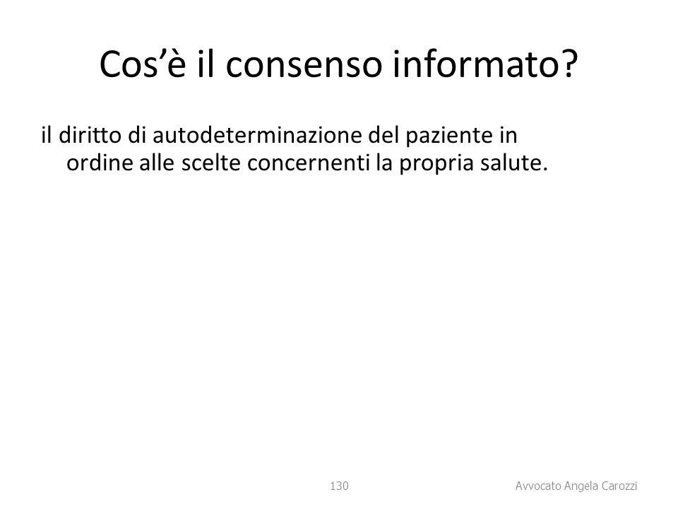 Cos'è il consenso informato