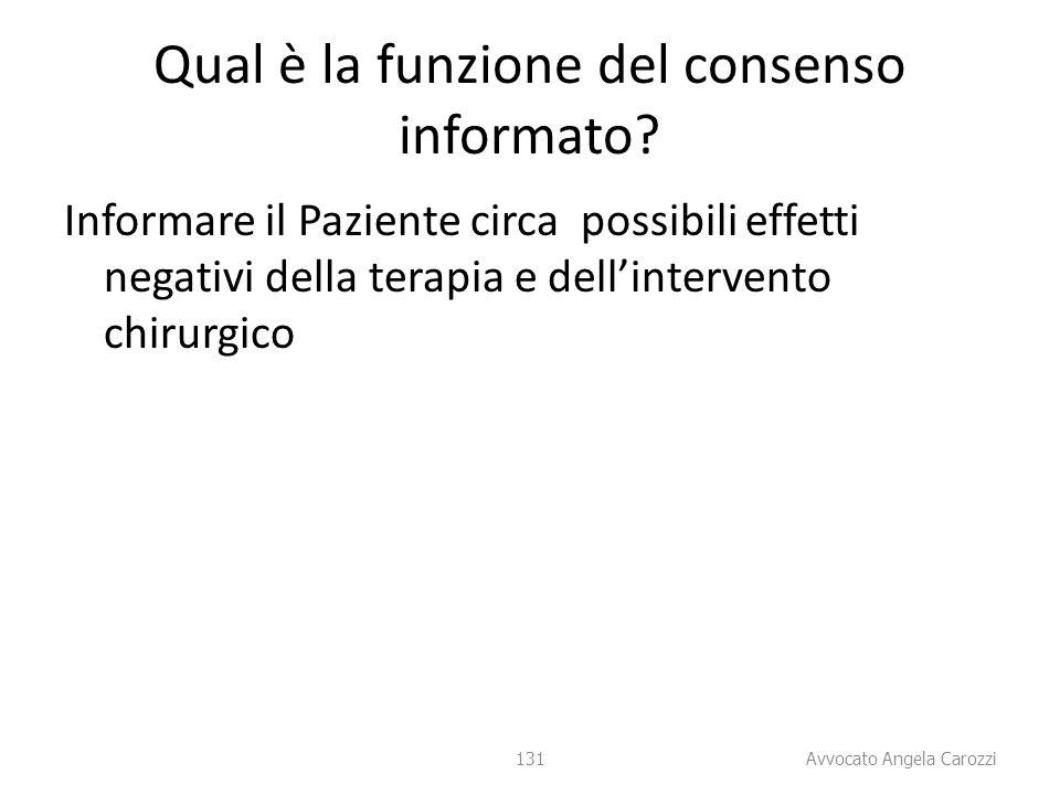 Qual è la funzione del consenso informato