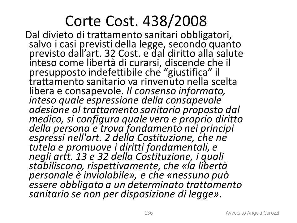 Corte Cost. 438/2008