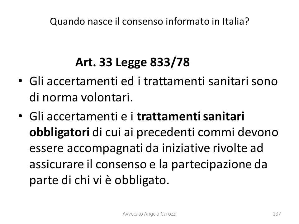 Quando nasce il consenso informato in Italia