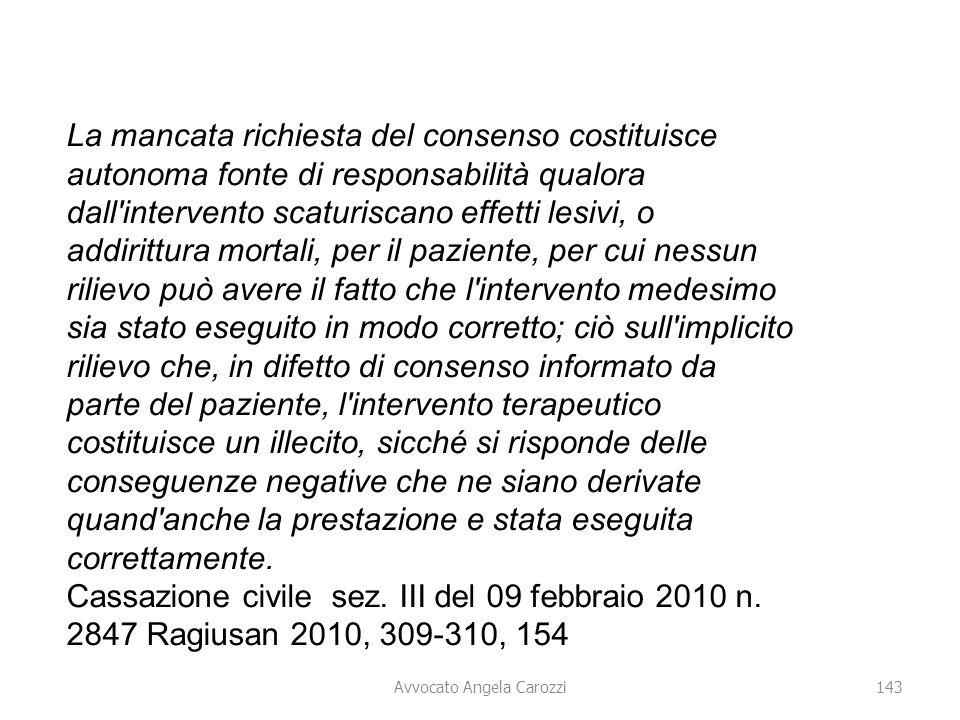 Avvocato Angela Carozzi