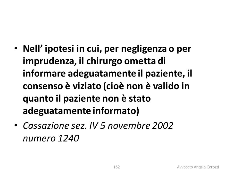 Cassazione sez. IV 5 novembre 2002 numero 1240