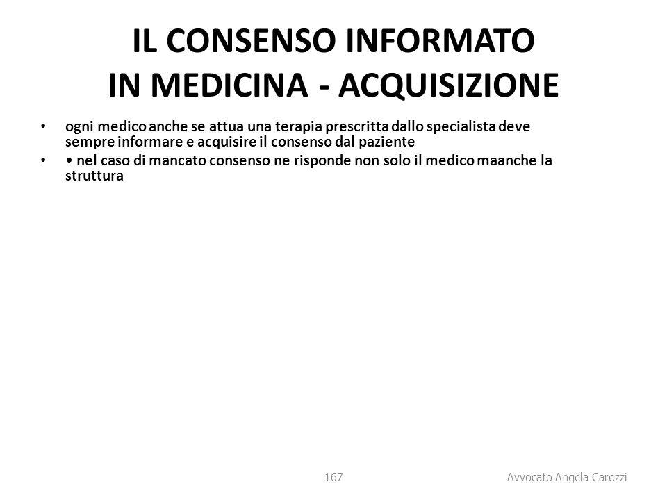 IL CONSENSO INFORMATO IN MEDICINA - ACQUISIZIONE